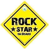 Rock Star musica a bordo segno, auto segno, Rock Sign, baby on Board, Singer, auto segno, Rock & Roll Sign