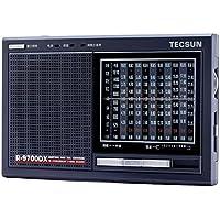 Tecsun R-9700DX FM Stereo/MW/SW 1-10 High Sensitivity Full Band Radio Receiver with Built-in Speaker Dual Conversation Receiver (EU)