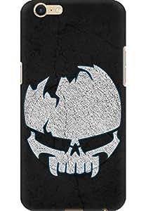 Amez designer printed 3d premium high quality back case cover for Oppo A39 (Skull)
