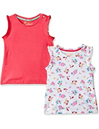 Mothercare Baby Girls' Floral Regular Fit T-Shirt (Pack of 2)
