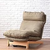 DEO Fauteuils inclinables Fauteuil pliant multifonction Fauteuil pliant amovible (Couleur : Marron clair, taille : Chair)