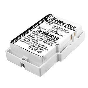 Akku-King Power-Akku für Nintendo DS Lite – ersetzt USG-003, USG-001, SAM-NDSLRBP, C/USG-A-BP-EUR – Li-Ion 1800mAh – mit Akkudeckel weiß