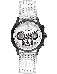 s.Oliver Herren-Armbanduhr XL Chronograph Leder SO-2398-LC