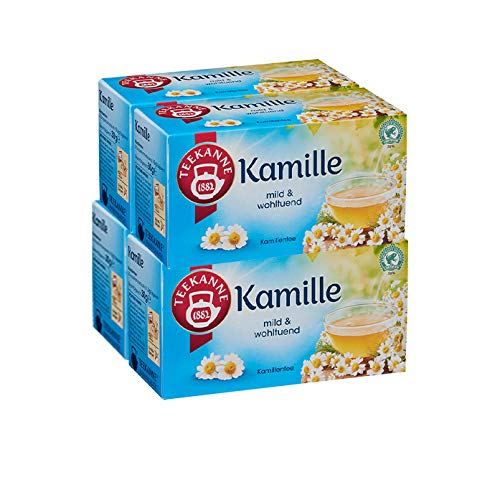 Teekanne Kamille 20 Beutel, 4er Pack (4 x 30 g Packung)