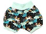 Kleine Könige kurze Hose Gr. 50-152 Baby Hose Mädchen Sommer Einhorn 'Sweet Unicorn', aqua