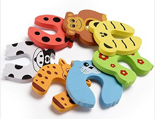 Refosian 7 PCS Kinder Sicherheit Finger Pinch Cartoon Tier Schaum Tür Stopper Kissen - gebündelt Karton Monster Baby Kind Kind Tier Kissen Finger