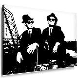 Boikal / Leinwand Bild Blues Brothers Film 1980 Leinwanddruck, Kunstdruck fm12 Wandbild 40 x 30 cm