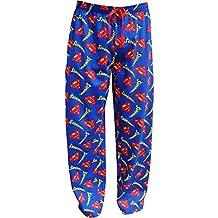 Superman para hombre cómodo y suave pijama pantalones de Lounge