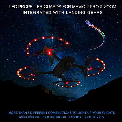 ALIKEEY Kamera Zubehör LED Propeller Guard für DJI Mavic 2 PRO & Zoom integriert mit Fahrwerken (Guard Propeller)