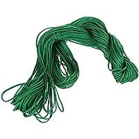 Cuerda Trenzada - SODIAL(R)1 rollo 25m Nylon Cordon Hilo Chino Nudo Macrame Cola de Rata Pulsera Trenzada Cuerda Verde Oscuro