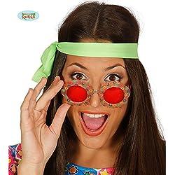 Gafas flor hippie