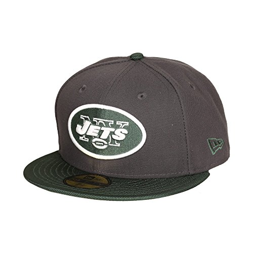 New Era NFL NEW YORK JETS Ballistic Visor 59FIFTY Cap, Charcoal, 7.375 -