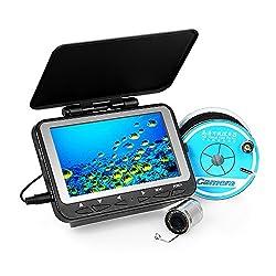 """Lixada Fischfinder Unterwasser Eisfischen Kamera 4,3 """"LCD Monitor 8 Infrarot IR LED Nachtsicht Kamera 140 ° Weitwinkel 15M / 30M 1000TVL"""