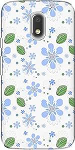 The Racoon Lean printed designer hard back mobile phone case cover for Motorola Moto E3 Power. (flowers an)