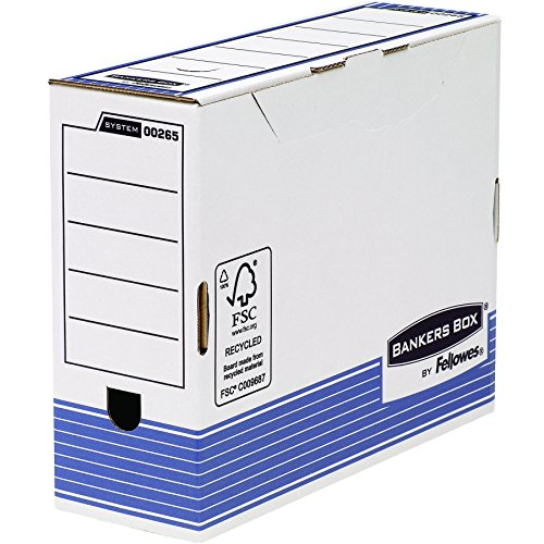 Bankers box 0026501 scatola archivio a4 system, dorso 100 mm, fsc, confezione da 10 pezzi