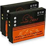 Bundle - 2x Power Batería EN-EL12 para Nikon CoolPix AW100 | AW110 | P300 | P310 | P330 | S31 | S70 | S710 | S610 | S610c | S620 | S630 | S640 | S800c | S1000pj | S6100 | S6300 | S6400 | S8000 | S8100 | S9100 | S9200 | S9300 | S9400 | S9500