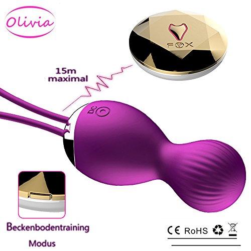 Olivia Stark Bullet Vibrator Vibratoren für sie Klitoris und G-punkt mit Kabellos Fernbedienung und stoßfunktion, Silikon, Lila