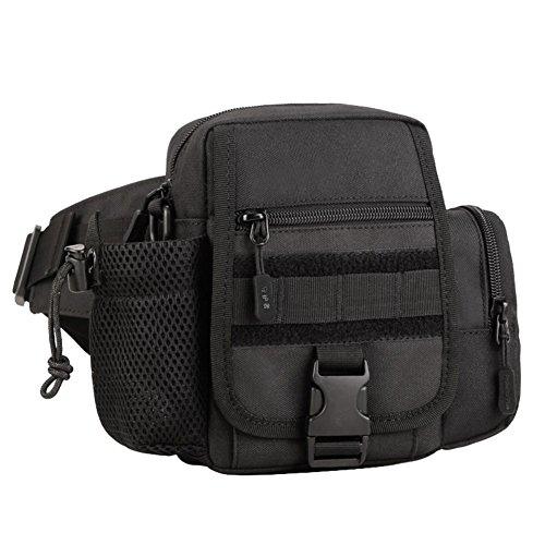 Reefa Multifunktions Messenger Bag Straßenunterpaket Taschen für Wasserflaschen Reiten Sport Outdoor Tourismus Bergsteigen Freizeit Schwarz