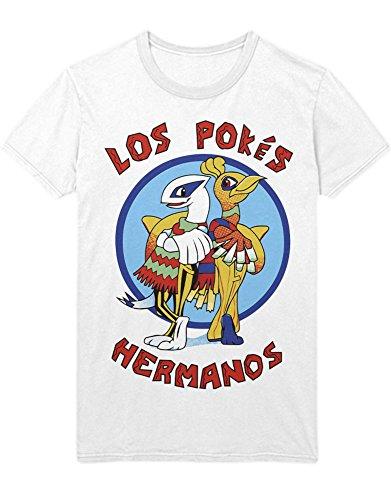 T-Shirt Poke Go Los Pokes Hermanos Mashup Cook C210005 Weiß XXXL