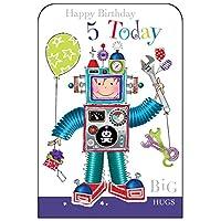 Jonny Javelin Boy Age 5 Birthday Card