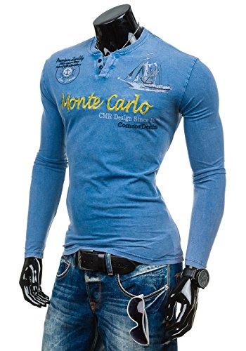 BOLF – Sweat-shirt – Manches longues – U-neck – COMEOR 2728 – Homme Bleu