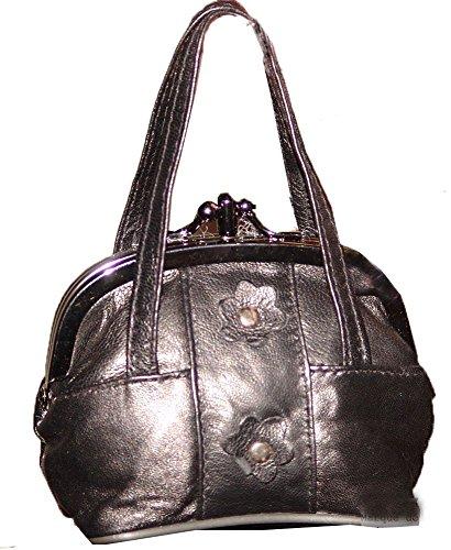 Porte monnaie Femme Cuir Forme sac à main 2 poches Pierre-cedric