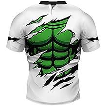 SEVENWELL Hombres Novela Realista 3D Impresa Camisetas Divertido Uniforme Patrón Stand Cuello Manga Corta Tee Tops