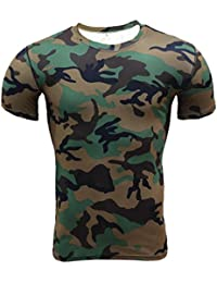 Men Short Sleeve Shirts,Moonuy,Mens Shirts Casual,Boy Camouflage Slim Workout Yoga Spring Autumn Summer T-Shirt Casual Fashion Handsome New T-Shirt Tops Blouse Pullover For Ladies