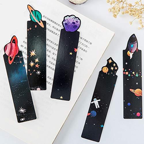 30 segnalibri neri serie Space Trip segnalibri regalo per bambini 15 x 4 cm
