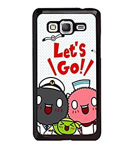 Fuson Premium 2D Back Case Cover Lets go With white Background Degined For Samsung Galaxy A5::Samsung Galaxy A5 A500F