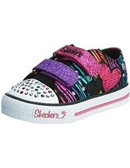 Skechers ShufflesTriple Time 10203N BKMT - Zapatillas de lona para niña