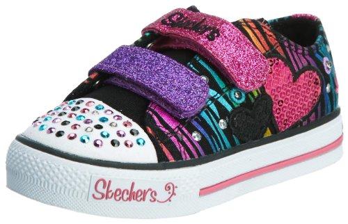 Skechers ShufflesTriple Time 10203N Mädchen Sneaker, Schwarz (BKMT), EU 25 (Sneaker Cali Canvas)