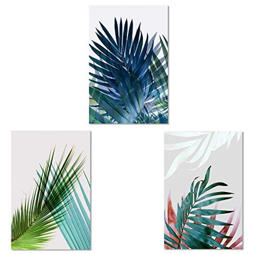 JAGENIE 3 unids Hoja Arte Moderno Pintura Al Óleo Impresión de la Lona Cuadro Home Room Decor Unframe 40x60CM
