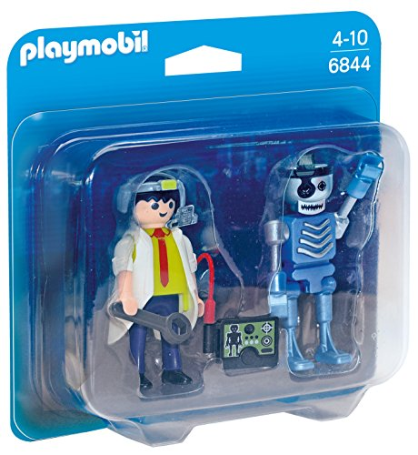 Playmobil Duo Pack- Scientist with Robot Duo Pack