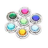 Crochet de sac à main, SKL 12pcs multicolore se pliant diamant sac à main...