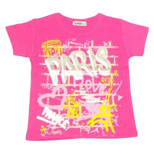 T-Shirt Fille Paris Love - Rose (2-4 Ans)