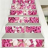 L-PJ Schritt Aufkleber 3D Treppenhaus Aufkleber liebe Süßigkeiten Vinyl abnehmbar kreativ Treppe Sticker Home Dekorpapier dekorativ 6 pcs