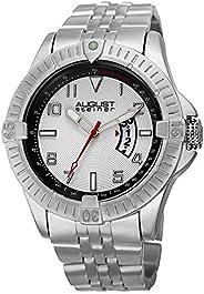 August Steiner Men's Multifunction Tachymeter Watch -around Textured Monochrome Dial + Bonus Date Window a