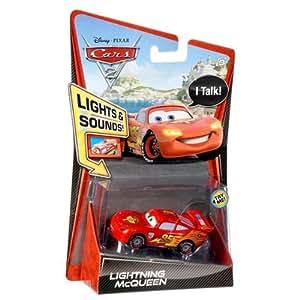 Vehicule cars 2 sons et lumieres flash - voiture miniature - mattel - w1703
