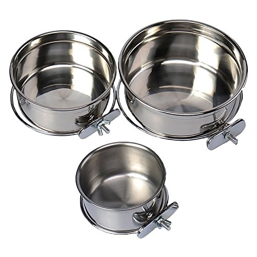 Yosoo-3-Size-Stainless-Steel-Food-Water-Bowl-For-Crates-Cages-Coop-Dog-Cat-Parrot-Rabbit-Bird-Pet-M1255cm