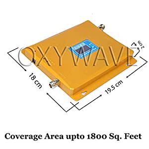 OXYWAVE® Standard 900/1800MHz Dual Band 4G+2G Wireless Mobile Signal Network Booster/Repeater/Amplifier Kit for Home, Shop, Basement, Office, Hotel, Large Building etc - Coverage Area Upto 1800 Sq. Feet