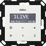 Gira 228403 - Radio RDS da incasso senza altoparlanti ST55, colore: Bianco brillante