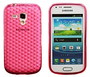 Luxburg® Housse Etui Coque Samsung Galaxy S Duos silicone case TPU Quartz Rose