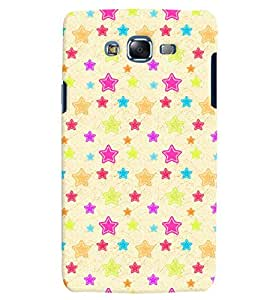 Citydreamz Colorful Stars Hard Polycarbonate Designer Back Case Cover For Samsung Galaxy On5