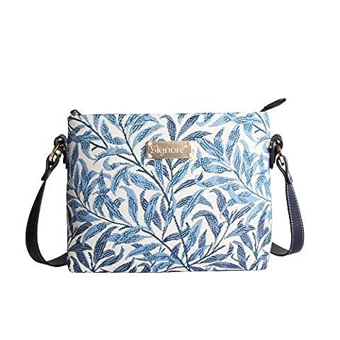 Modische Tapisserie Damen Schultertasche, Bodybag oder Messengertasche in Signare Blumen (Willow)