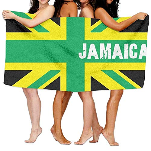 LisaArticles Jamaican Kingdom Flag Beach Towels Ultra Absorbent Microfiber Picnic Mat for Men Women Kids 31.5x51.2 Inches/80x130cm