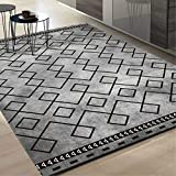 J.Scarpet Nordic Modern Wash Home Teppich Couchtisch Sofa/Schlafzimmer Bett/Wohnzimmer/Bad/Büro/Studie Rechteckige Teppichboden Matte Einfache Kreative Geometrische Stil,3,120 * 160Cm
