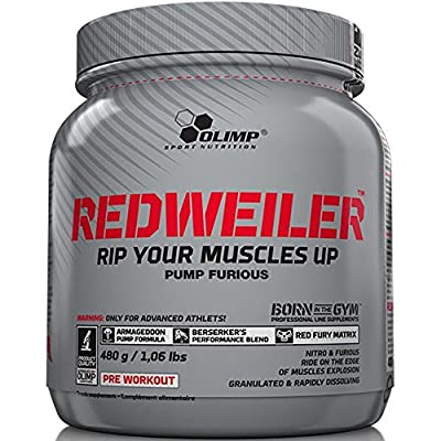 Olimp Nutrition RedWeiler Strong Nitric Oxide Pre Workout (480g, Orange Juice) by Olimp Nutrition