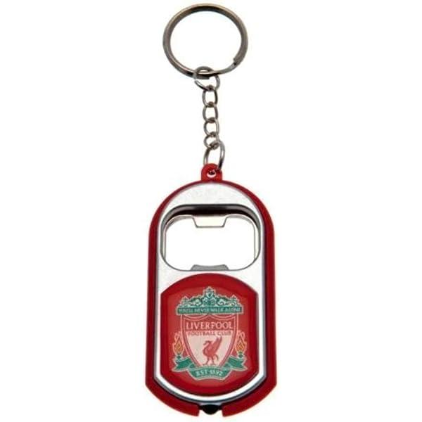 Liverpool Fc Offizieller Fußball Flaschenöffner Schlüsselanhänger Mit Taschenlampe Bekleidung