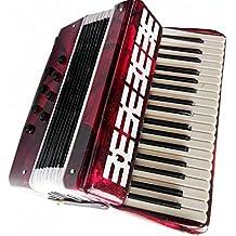 Acordeón miniatura - de madera y plástico - Objeto de decoración - regalo música - Entregado en su cofrecito - Altura 9 cm - Anchura 8 cm